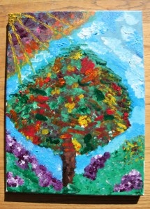 Zette's painting from ArtJamz 2014-01-12