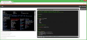 screenshot of ttyx